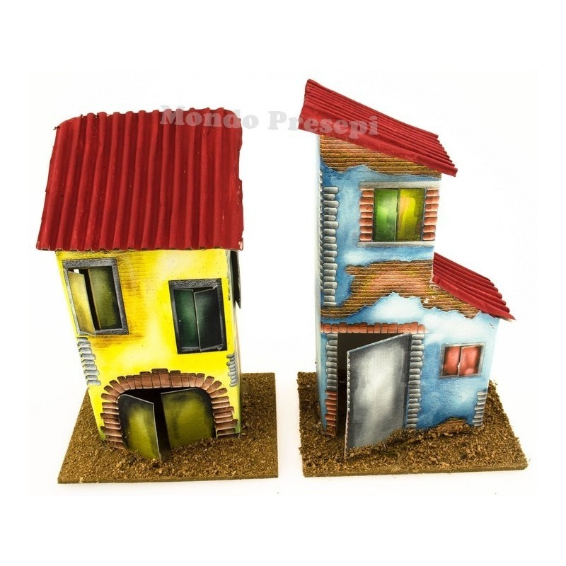 Set of 2 houses cm 10x7x14,5 h
