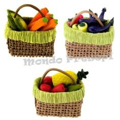 Mondo Presepi Borsa cm 3,5 con frutta e verdure