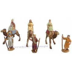 Natività cm 3 patinata lux set 6 pezzi