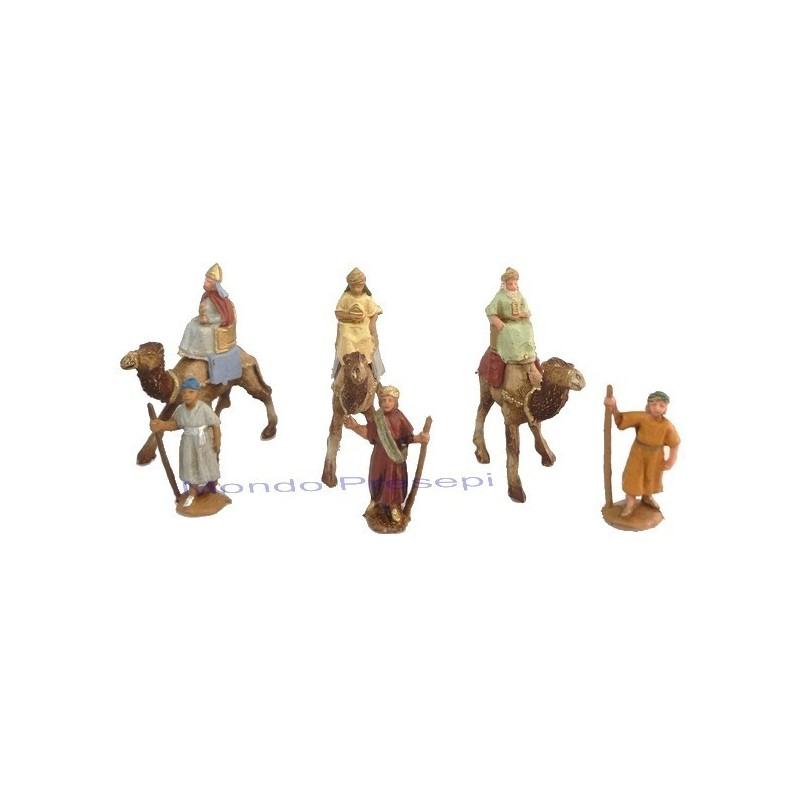 Mondo Presepi Tre Re magi cm 6 su cammello con cammelieri
