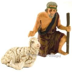 Mondo Presepi Cm 12 Pastore accarezza pecora