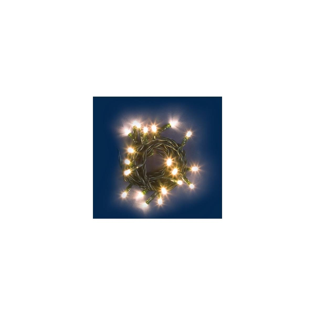 Led natale da 40 luce calda classica 220v mondo presepi for Led luce calda