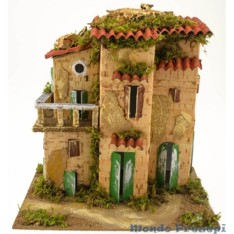 Mondo Presepi Casa con balcone