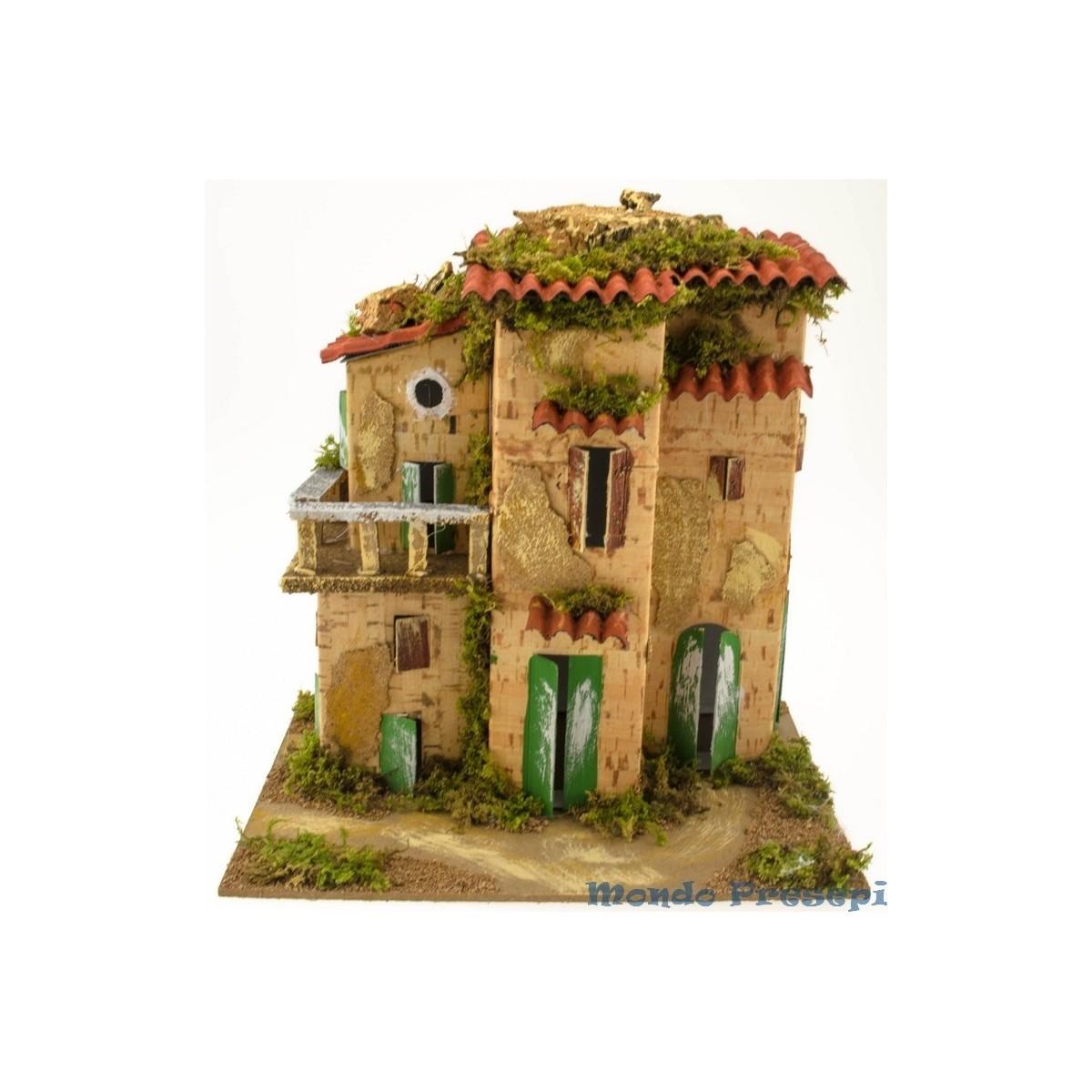 Casa con balcone mondo presepi for Case con casa suocera