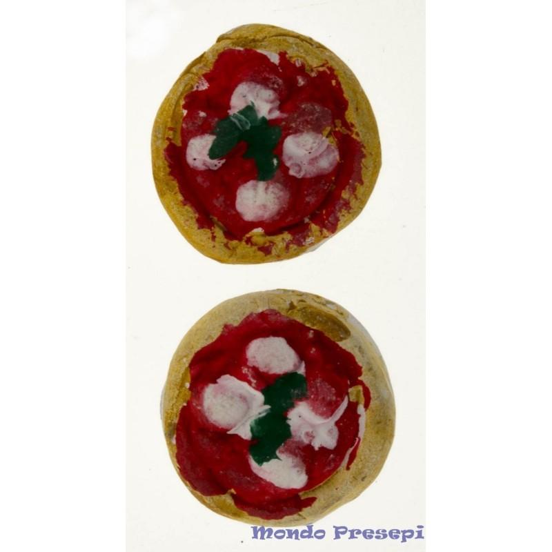 Mondo Presepi Set 2 pizze in terracotta cm 2,5
