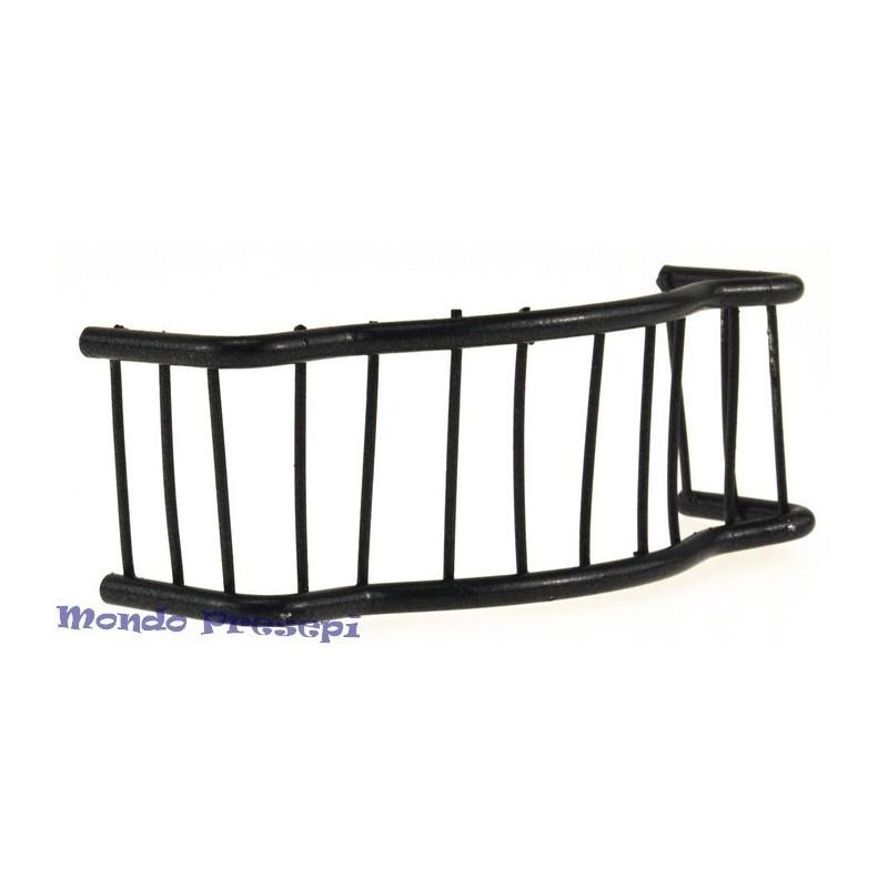 Metal railing 10x3.5 cm - Cod. FRB03
