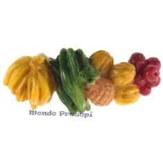 Composizione frutta più ortaggi da banco Mondo Presepi