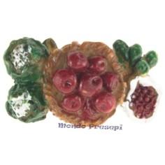 Composizione di frutta cm 5 Mondo Presepi