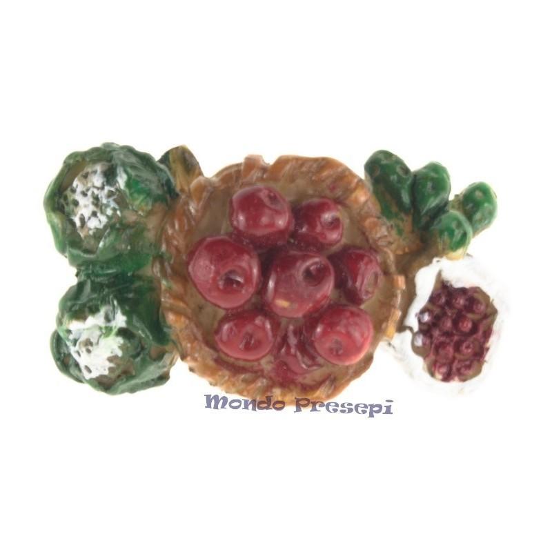 Mondo Presepi Composizione di frutta cm 5