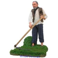 Man mowing in motion 30 cm