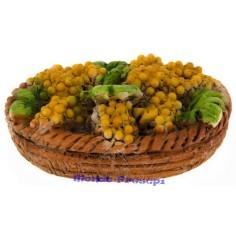 Cesto circolare di uva bianca cm 4 in resina
