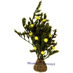 Mondo Presepi Albero cm 12 con limoni