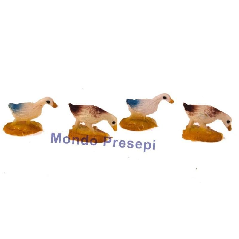 Mondo Presepi Oche set 4 pz per statue cm 6