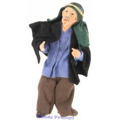Cm 11,5 Signore anziano mendicante