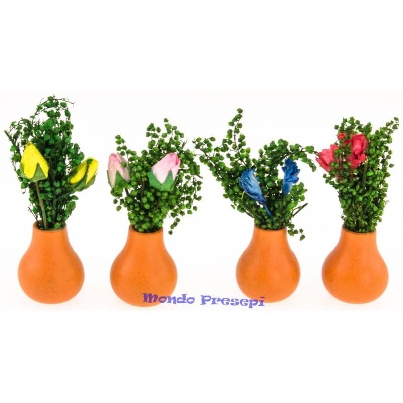 Mondo Presepi Vaso con tulipani cm 4,5