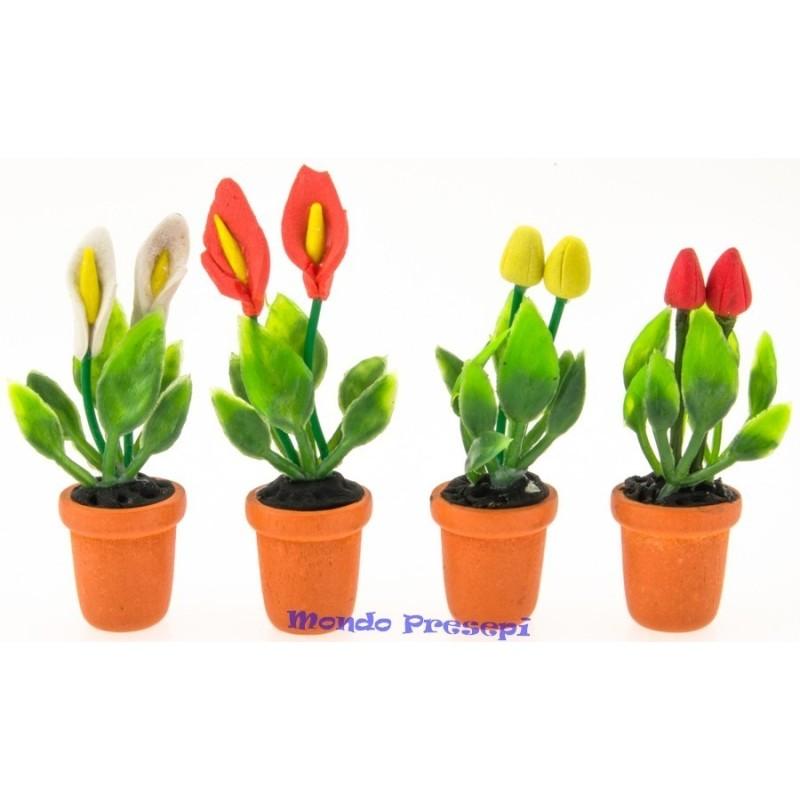 Mondo Presepi Vaso con fiori cm 5