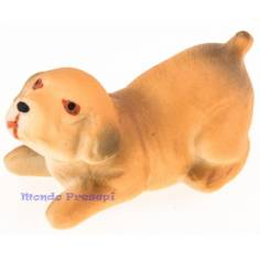 Cane accovacciato in resina cm 4