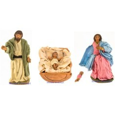Complete nativity 17 cm
