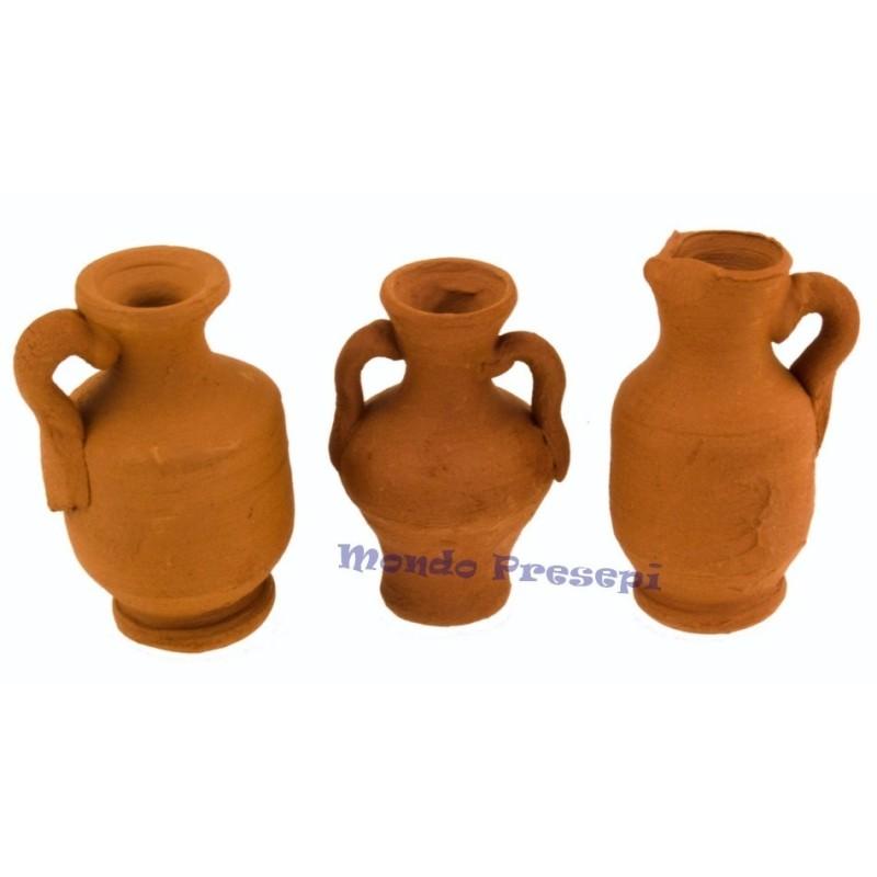 Set 3 amphorae 3 cm -6365-12