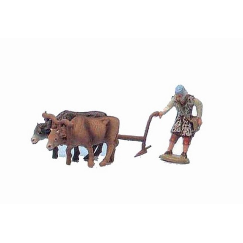 7 cm peasant with plow