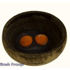 Ciotola in legno con tuorli d'uova ø 2,5 cm Mondo Presepi
