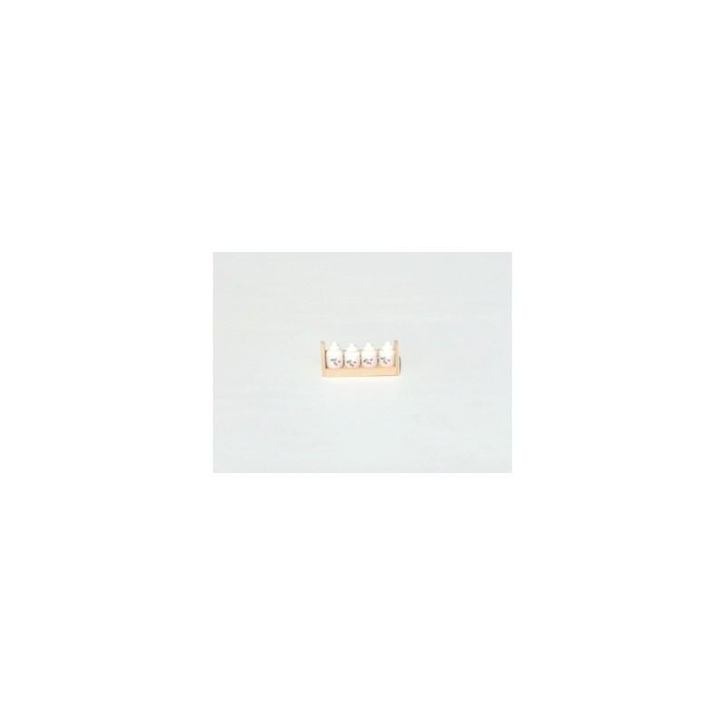 Mensola in legno con vasetti - K08