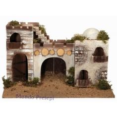 Mondo Presepi Castello palestinese con minaretto