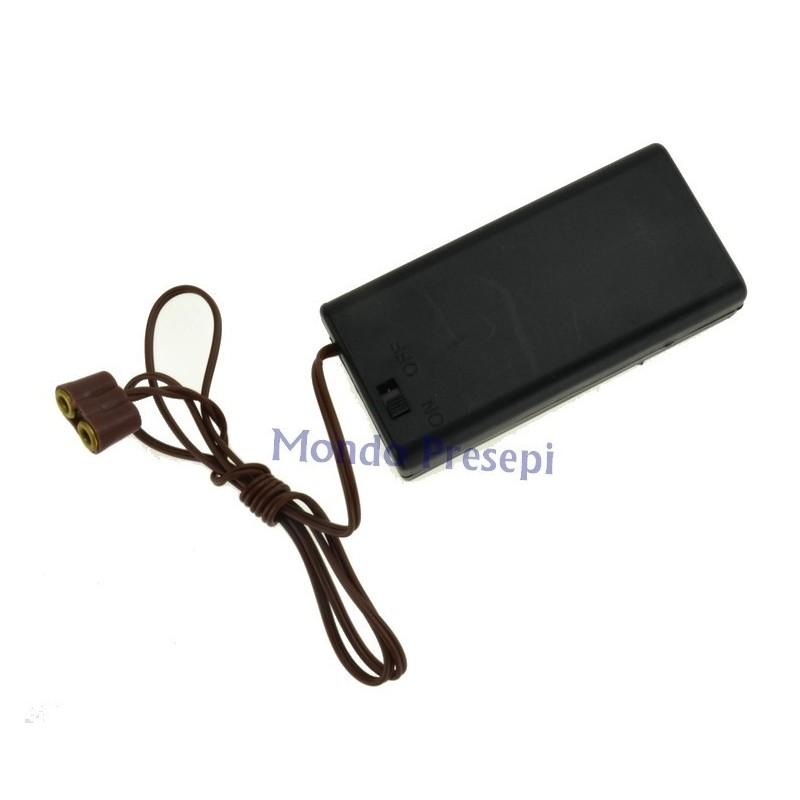 Portabatterie con interruttore per luci e lanterne - PT-K