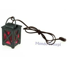 Lanterna grande in metallo lux luce rossa 3,5-4volt