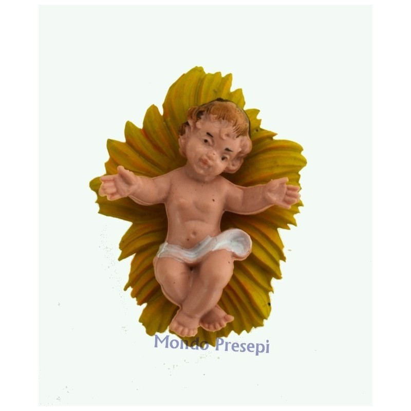 Mondo Presepi Bambinello e culla per statue cm 10-12