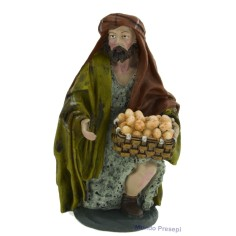 Mondo Presepi Cm 20 Uomo con cesto di uova