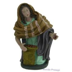 Mondo Presepi Cm 20 Donna con sacco di castagne