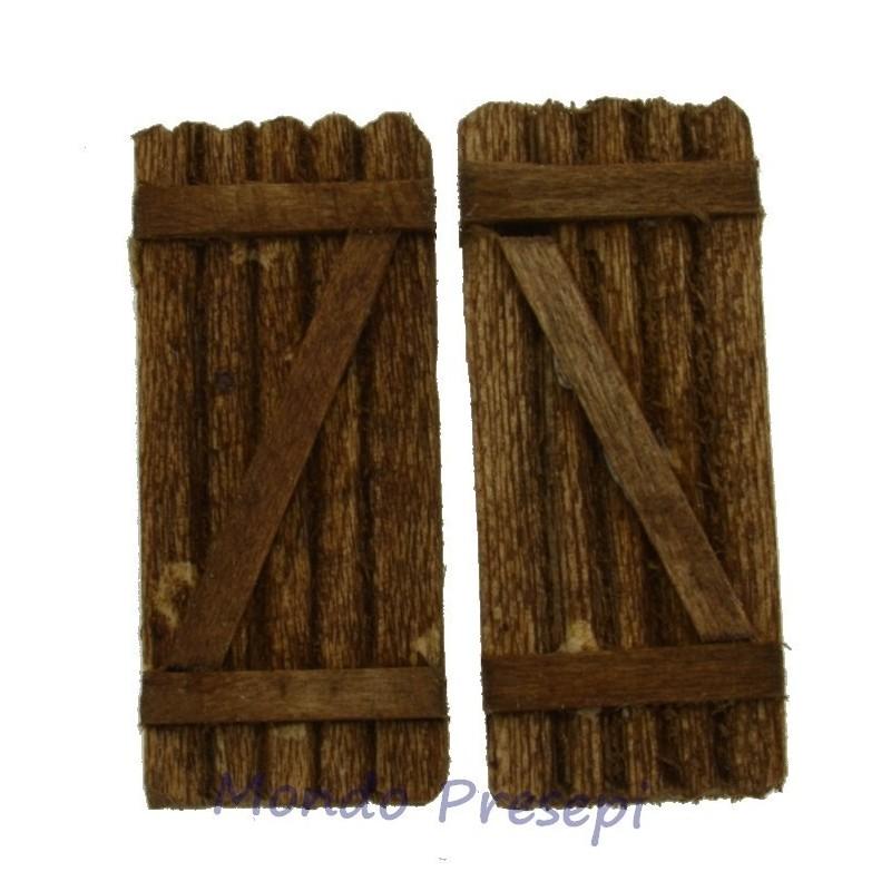 Mondo Presepi Persiana in legno doppia anta cm 4x4,7- TP01