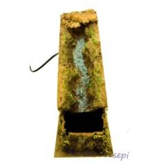 Cascata lux in resina funzionante