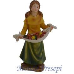 Mondo Presepi Cm 15 bambina con frutta