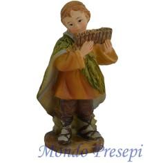 Mondo Presepi Cm 9 Bambino che suona in resina