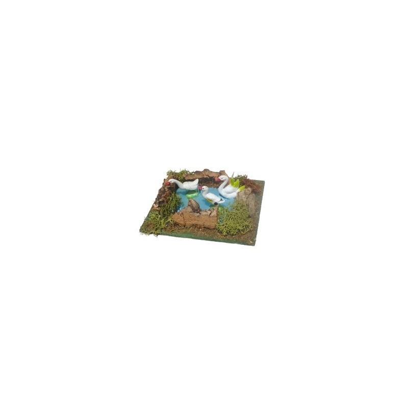 Mondo Presepi Laghetto cigni - Cod. AA20