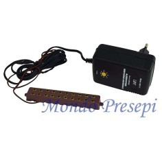 Transformer with power strip 10 seats with variable voltage