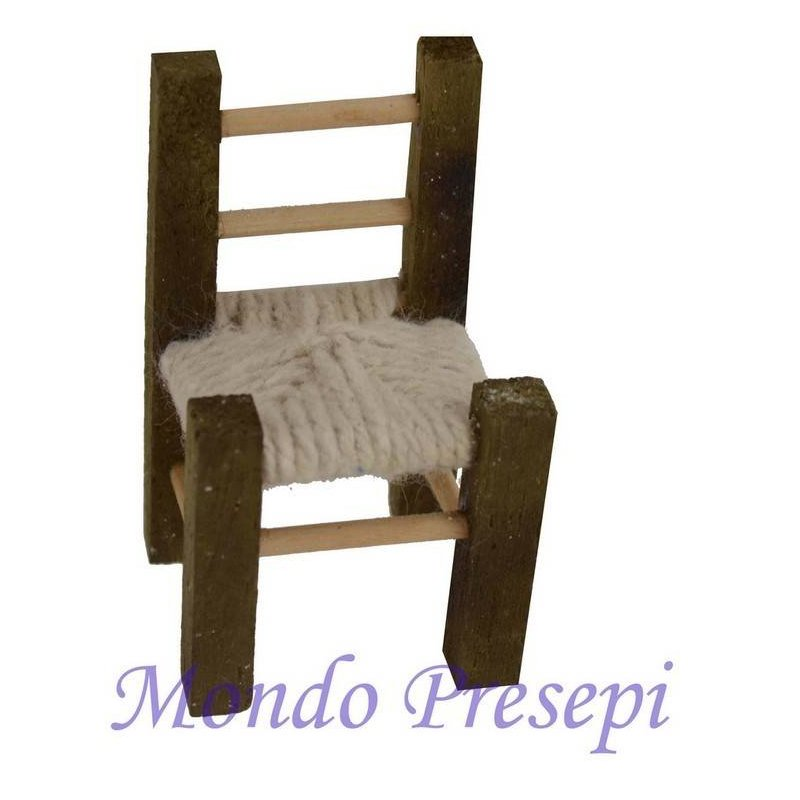 Mondo Presepi Sedia in legno cm 6,5