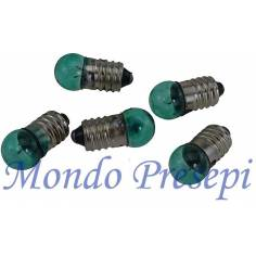 Mondo Presepi Busta 5 lampadine verdi att. E10 - C