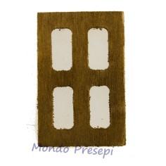 Mondo Presepi Finestra in legno mignon cm 3x4,5