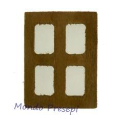Mondo Presepi Finestra in legno piccola cm 3,5x4,5