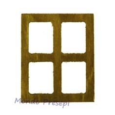 Mondo Presepi Finestra in legno grande cm 5x6