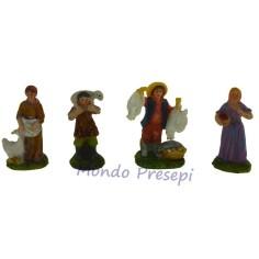 Set of 4 crafts in resin, 6 cm