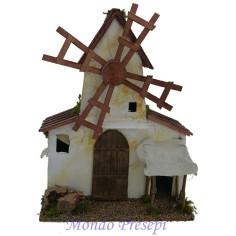 Mulino a vento funzionante in legno