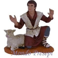Mondo Presepi Cm 15 Pastore con pecora serie Oliver