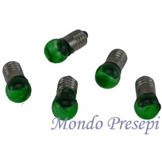 Mondo Presepi Busta 5 lampadine verdi att. E5,5 - Cod. L05R