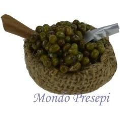 Basket jute with olive cm 4,5