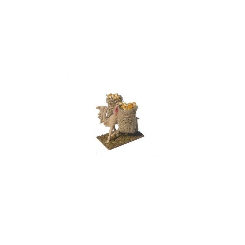 Mondo Presepi Cammello con sacchi di grano - Cod. ME21