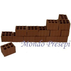 Bricks, Perforated mm 20x27x17 h. available in:
